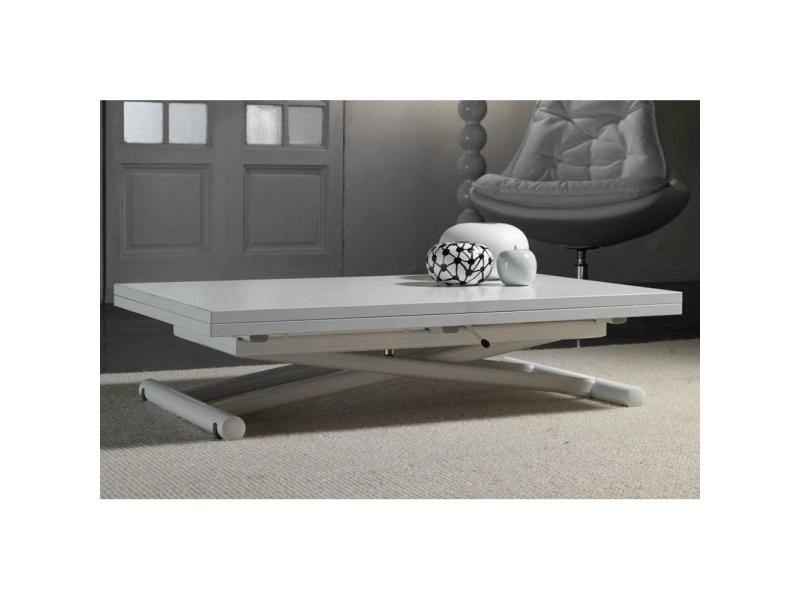 Table basse relevable extensible lift wood blanche - Table basse conforama blanche ...