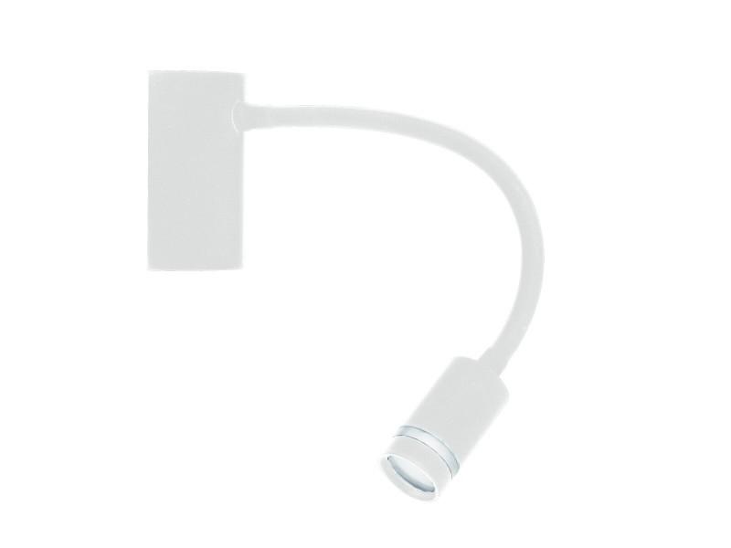 Applique liseuse led flexible kepler blanche en métal
