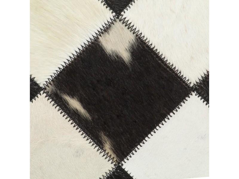 Icaverne - fauteuils club, fauteuils inclinables et chauffeuses lits famille chaise de relaxation cuir véritable 69x69x69 cm losanges noir