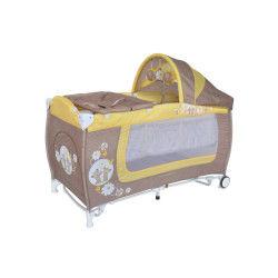 Lit parapluie bébé lit pliant + mode lit à bascule danny 2 beige lorelli