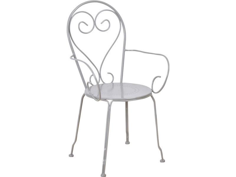 chaise en m tal classique lot de 2 vente de esschert design conforama. Black Bedroom Furniture Sets. Home Design Ideas