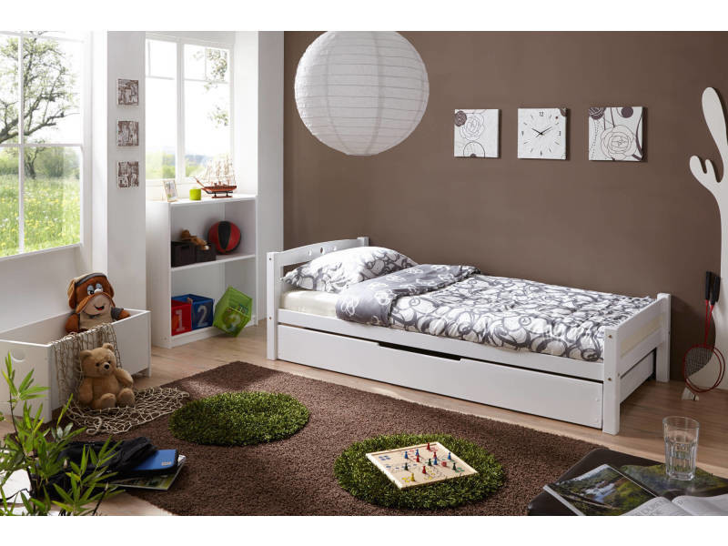 lit 1 personne lit simple lit adulte enfant avec. Black Bedroom Furniture Sets. Home Design Ideas