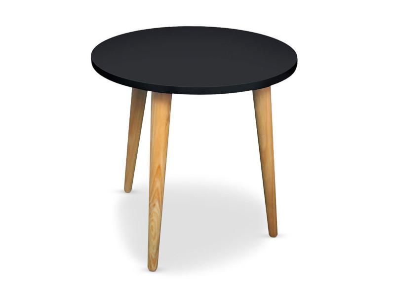 Table basse ronde noire cookie conforama - Table basse ronde noire ...