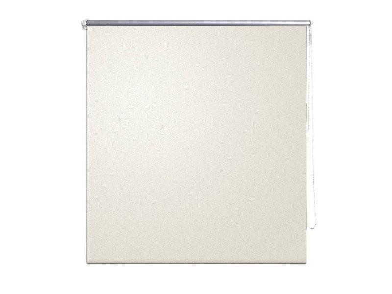 Store enrouleur occultant crème 60 x 120 cm fenêtre rideau pare-vue volet roulant helloshop26 4102132