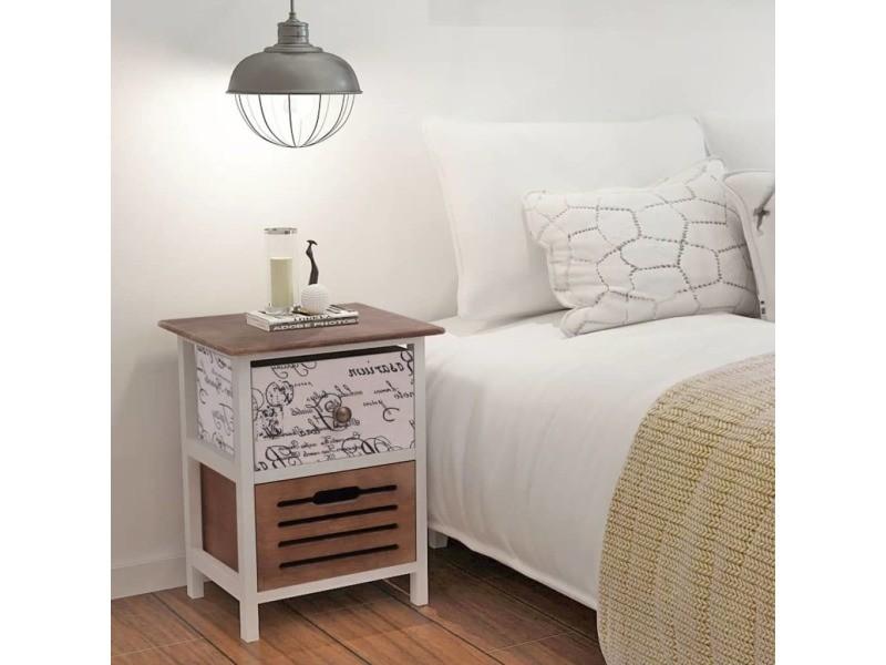 Vidaxl Tables De Chevet 2 Pcs En Bois 242883 Vente De Vidaxl