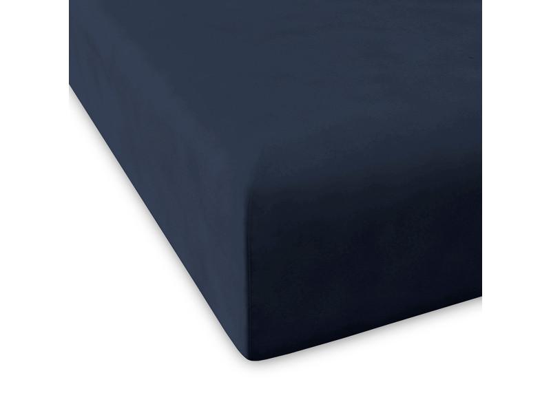 Drap housse pure |90x200+28 cm|bleu marine 58926