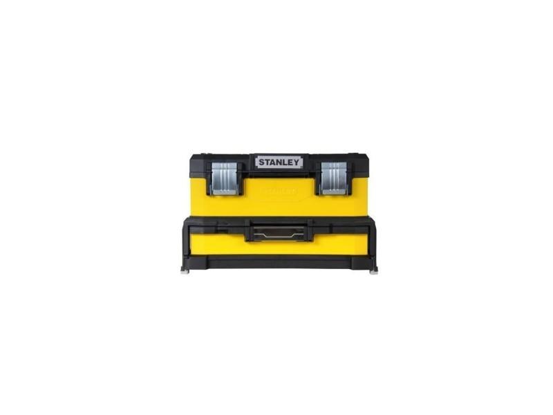 Stanley boite a outils a tiroir jaune 51cm vide