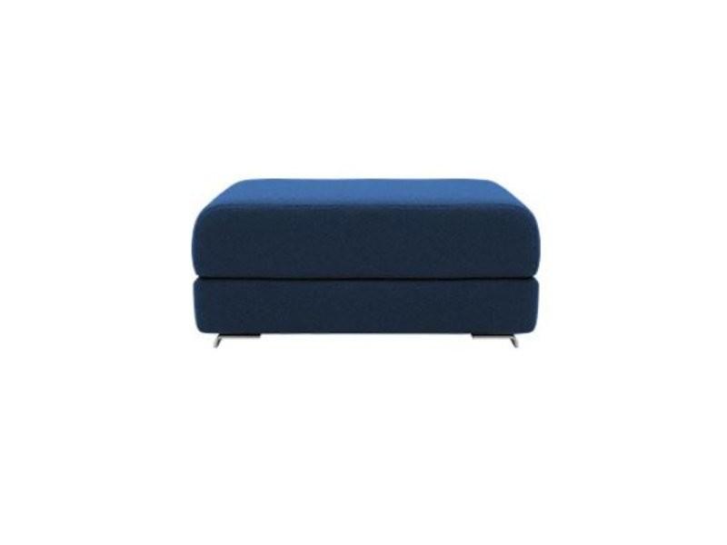 Pouf convertible lounge en tissu laine bleu marine softline 20100874833
