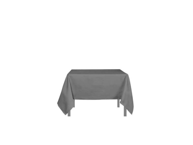 Nappe anti-tâches carrée 140x140 cm alix gris