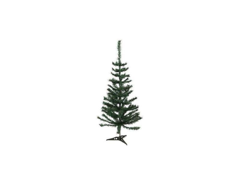 Sapin de noel - arbre de noel sapin de noël artificiel - h 150 cm - 200 branches - vert colorado - avec pied plastique
