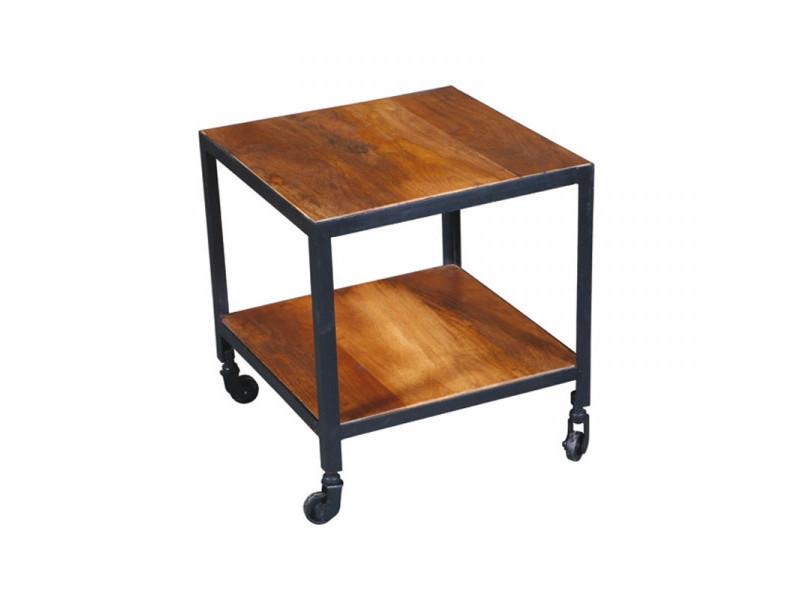 Bout de canapé en bois sur roulettes - verden - l 45 x l 45 x h 45 cm