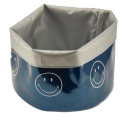 Panier de rangement m - smiley color - bleu paon