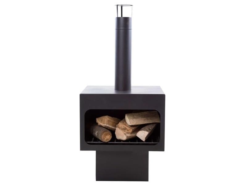 Icaverne - cheminées edition redfire cheminée jersey xl acier noir 81076