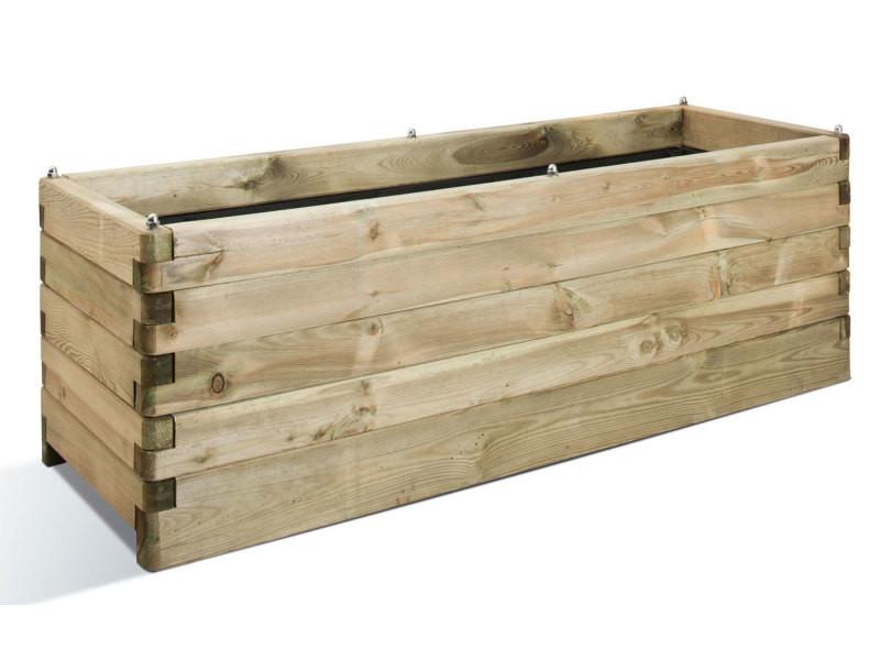 Jardinière en bois oléa rectangulaire 150 0281269