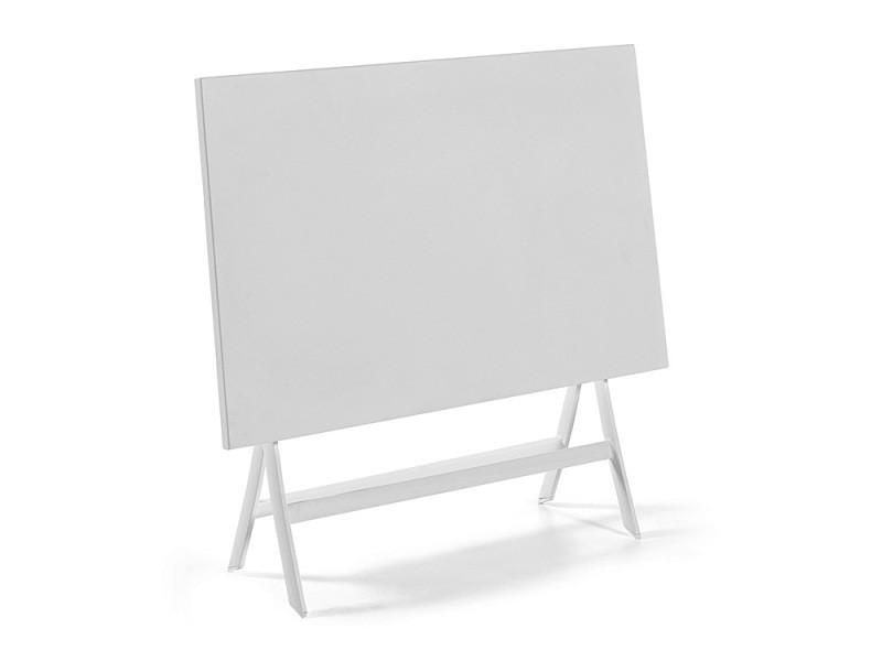 Table pliante rectangulaire en alu blanc 110 x 70 cm grace ...