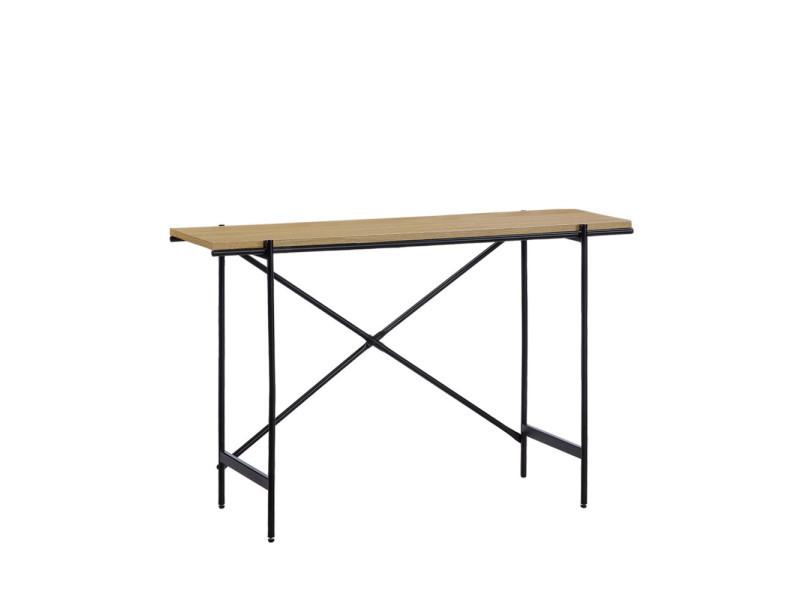 Dorintosh - console en bois et métal - couleur - métal / bois foncé 19009