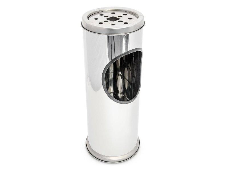Cendrier extérieur avec poubelle en acier inoxydable 37 cm gris helloshop26 2013007