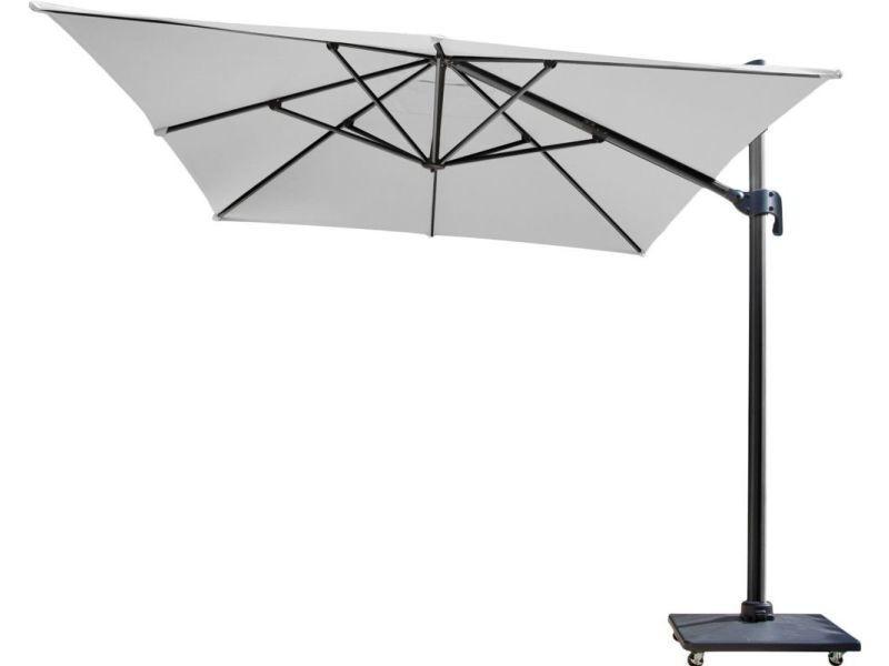 Parasol déporté en aluminium 300x400 cm dom