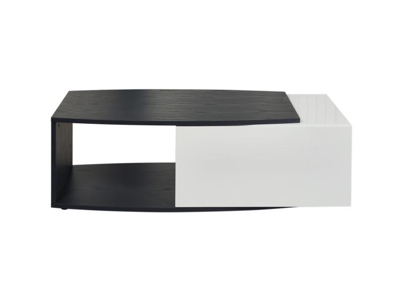 Subleem table basse bois pacific gris et blanc