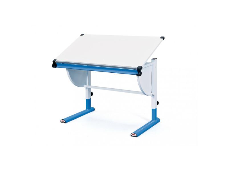 Bureau inclinable et modulable meuble écolier enfant bleu vente de