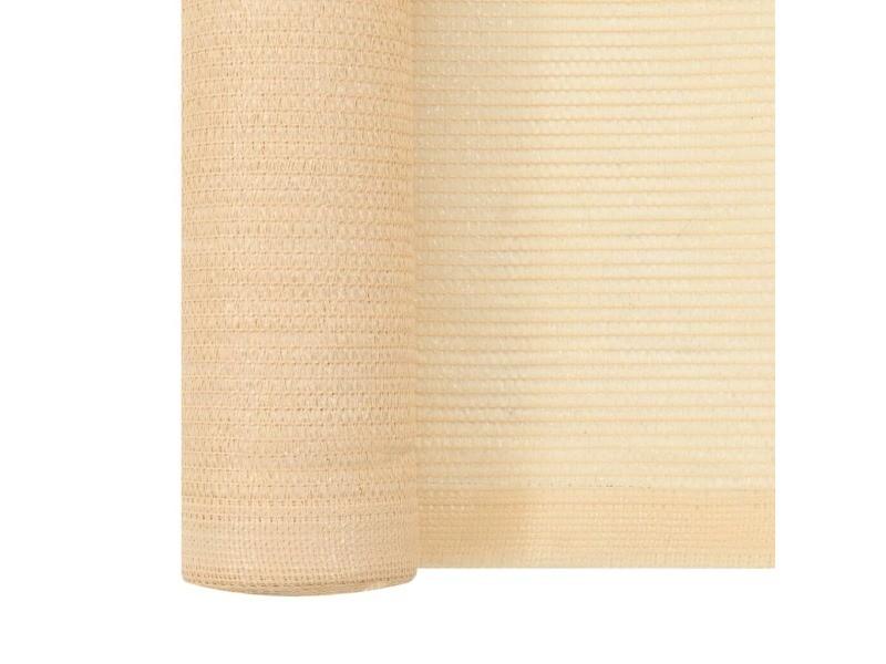 Vidaxl filet brise-vue pehd 1,5 x 50 m beige 45254
