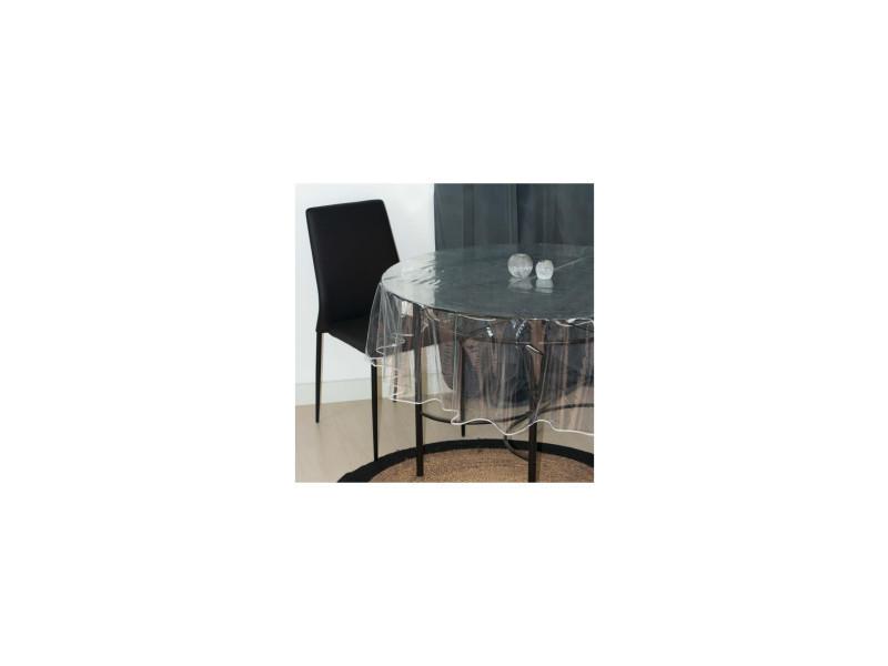 Nappe ronde diamètre 180 cm cristal transparent