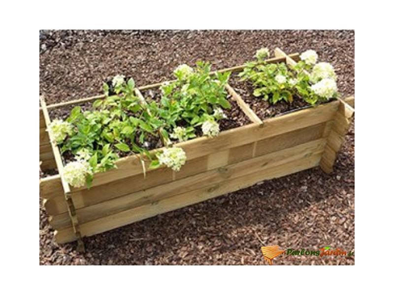 carr de potager en bois trait persil rectangle vente de habitat et jardin conforama