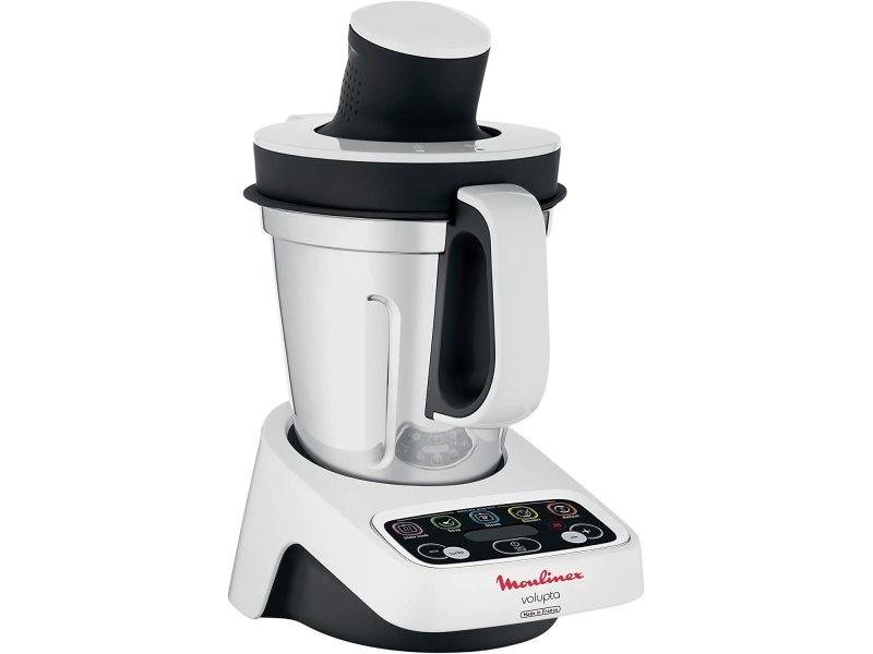 Robot de cuisine multifonction de 3l avec cuisson et 5 programmes automatiques 1000w