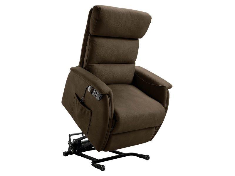 Pacios - fauteuil relax et releveur electrique marron