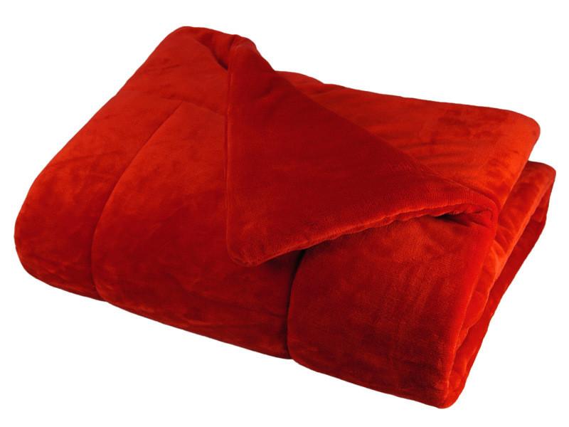 Couvre lit matelassé douceur polaire 230x250cm - Vente de Plaid et  couverture - Conforama b9f0ee7b099