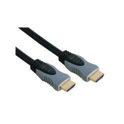 Cable hdmi  3.0m premium 19p doré