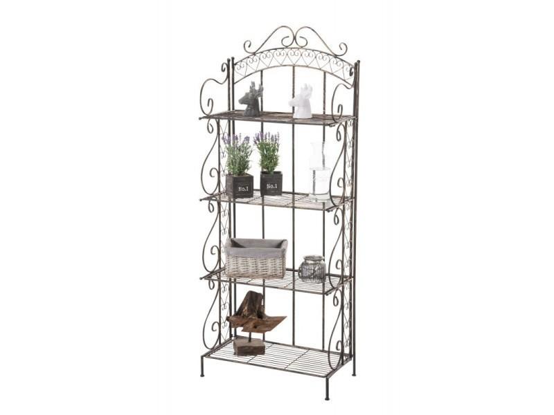 Etagère pour plantes 4 niveaux en fer 153x61x33 cm bronze vieilli ...