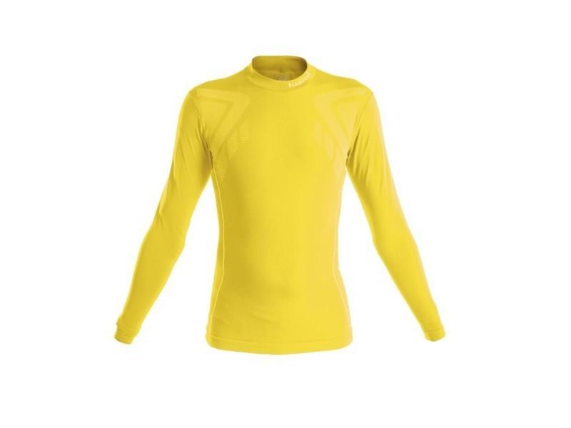 T-shirt de sport stylé taille xl t-shirt thermique luanvi sahara jaune