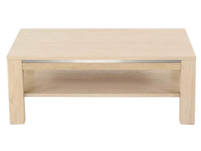 Table basse 116x65cm double plateau chêne massif - landrom ORL-TBR2P