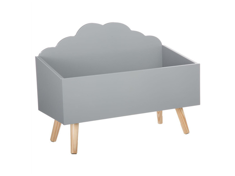 coffre jouets nuage gris en bois vente de atmosphera. Black Bedroom Furniture Sets. Home Design Ideas