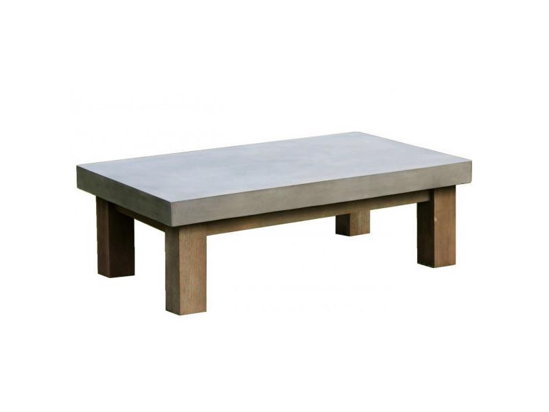Beton - table basse de salon béton & bois
