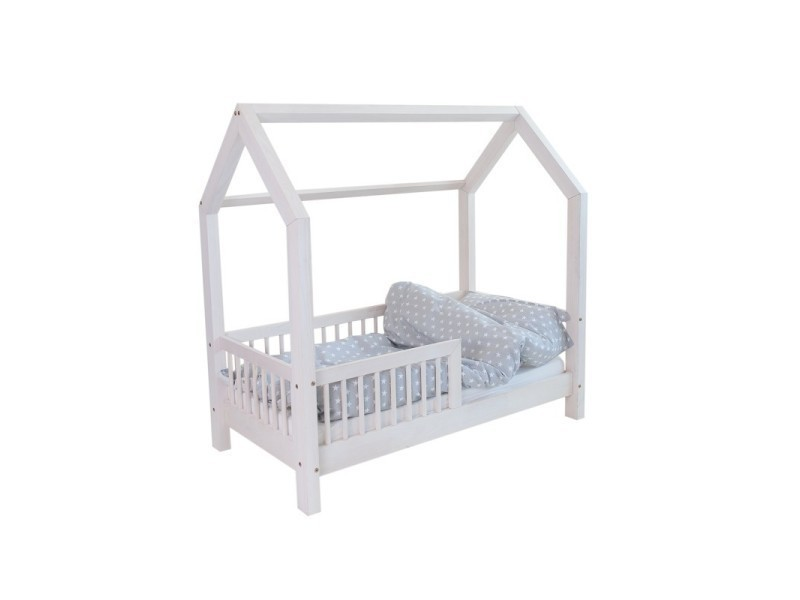 lit cabane b blanc 60x120cm sommier vente de monlitcabane conforama. Black Bedroom Furniture Sets. Home Design Ideas