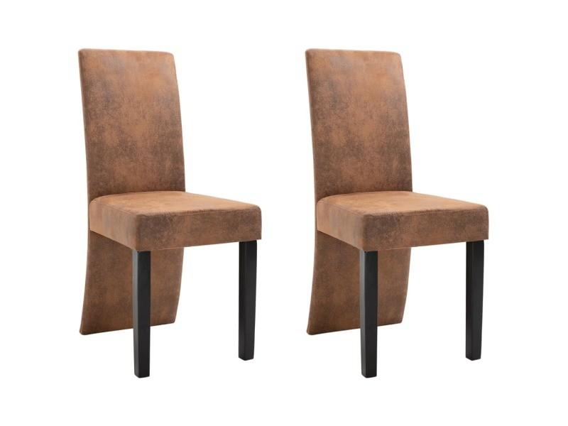 Icaverne chaises de cuisine collection 2 pcs chaises de