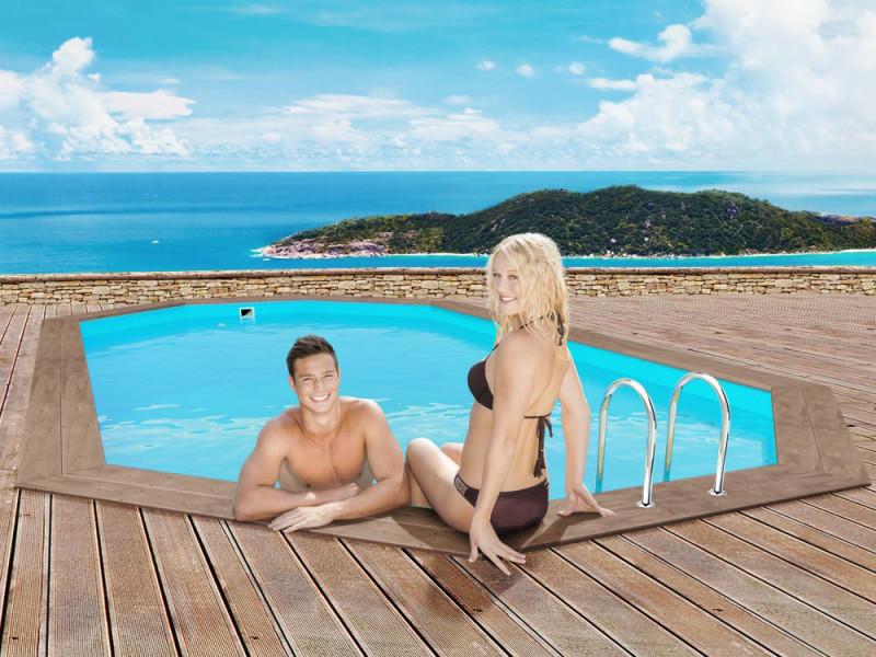 piscine bois 5.60 x 3.70 x 1.24 m