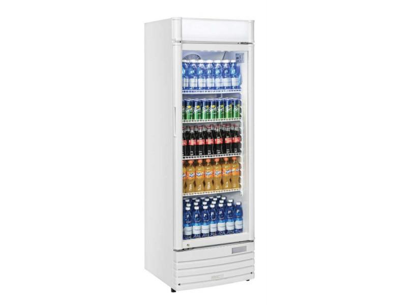 Armoire réfrigérée à boissons blanche - 350 litres - r600a 1 porte vitrée