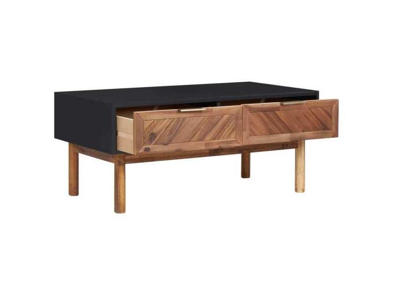 Vidaxl table basse 90x50x40 cm bois d'acacia massif et mdf 289908