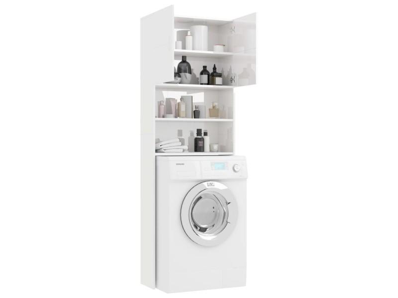 Vidaxl Meuble De Machine A Laver Blanc Brillant 64x25 5x190 Cm 800033 Vente De Vidaxl Conforama