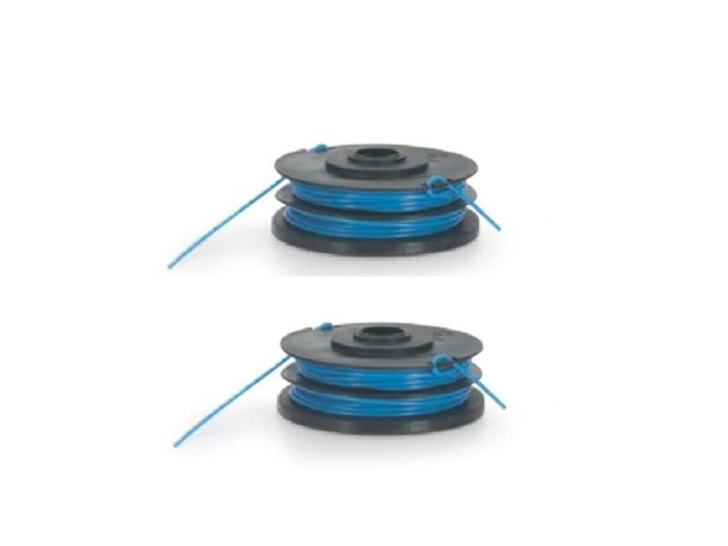 Lot de 2 bobines de fil nylon pour coupe bordure 450w- 5m - diamètre 1.4mm