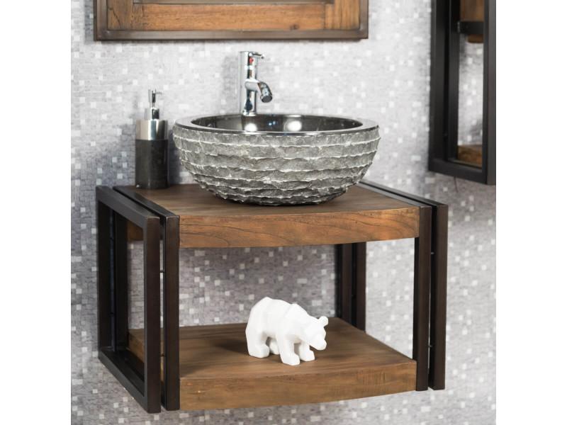 Meuble de salle de bain suspendu elégance 60 cm 31072