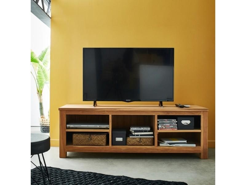 Meuble tv en bois de teck 150 cm