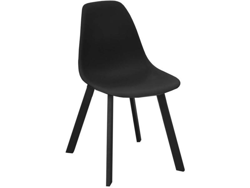 Chaises d'extérieur aluminium et résine jato (lot de 4