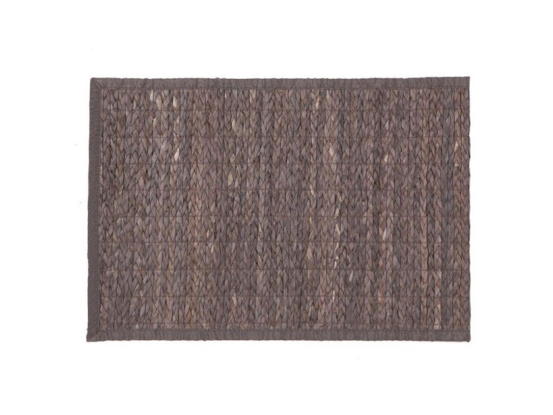 Tapis en bambou 120 x 170cm gris foncé