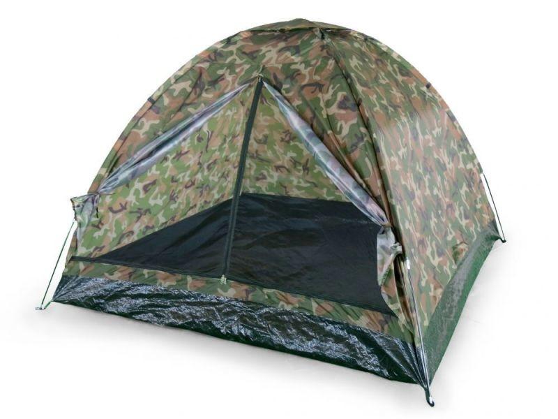 Mstore | tente de camping pour 4 personnes 200x200 cm excursion vacances | imperméable + moustiquaire + housse de transport - kaki