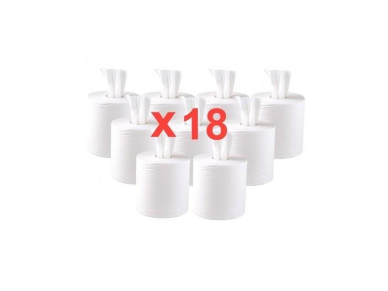 Essuie-mains blanc à dévidage central contact alimentaire jantex x 18 -