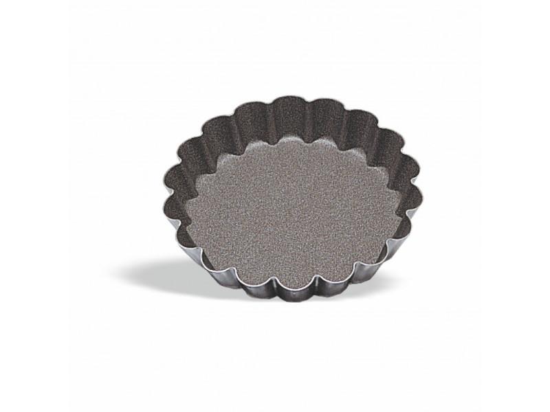Moule à tartelette bord cannelé ø 5 à 12 cm - pujadas - acier 10 (ø) cm